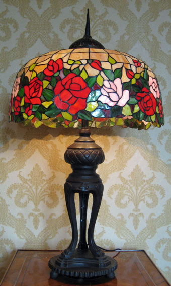 Very large stained glass lamp shade