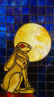 Encapsulated Stained Glass art panel