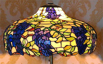 repaired stained glass lamp shade