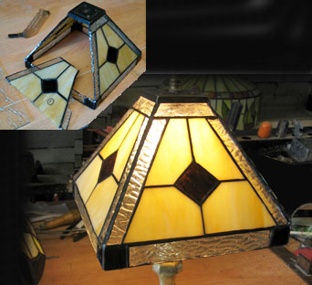 Damaged Glass Lamp