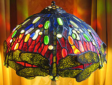 large Tiffany Lamp cone in beautiful blues