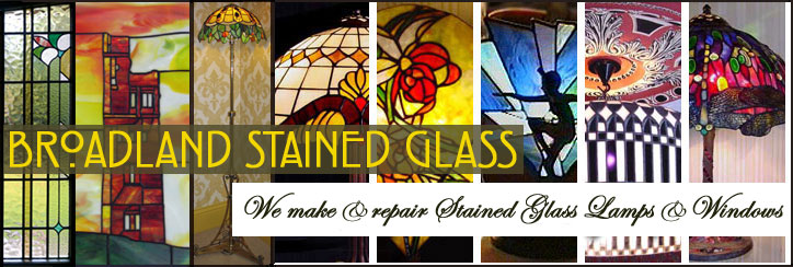 Broadland Stained Glass make Tiffany Lamps